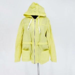 Tommy Hilfiger Yellow Windbreaker Rain Jacket XL